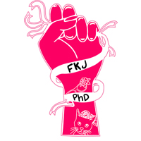 Logo hand drawn for feminist killjoy phd a feminist podcast.