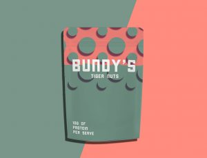 Packaging and Logo design for bundys tiger nuts. Patterns, font, layout were created by me. This is a local Melbourne Australia company.