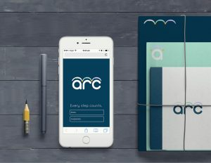 ARC app design across notebook collateral to show how the brand would look other ways.