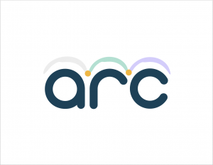 ARC logo in colour against white to show how it will look when it's stand alone.